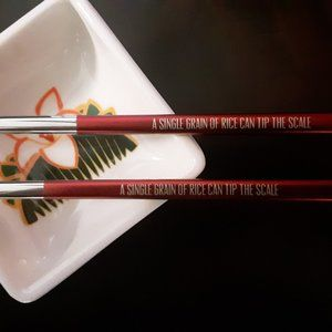 LitJoy Crate Dining - Mulan-Inspired Chopsticks and Soy Sauce Dish
